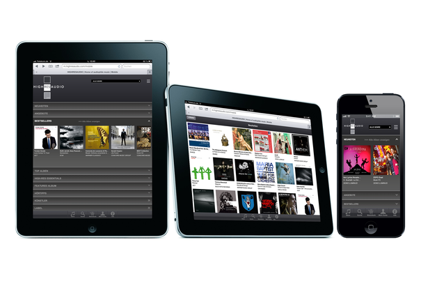 Downloads direkt in den Musikserver - Shop im Audioplayer